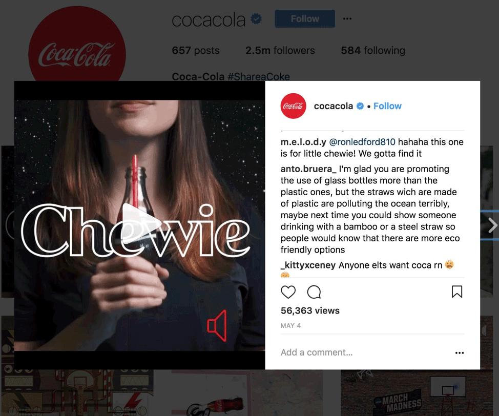 Chewie . coca cola
