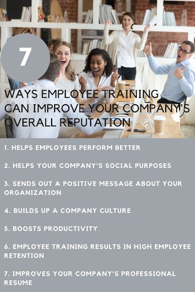 Employee training can improve your companys reputation