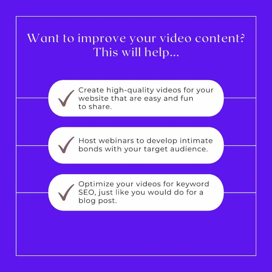 How To Improve Your Video Content
