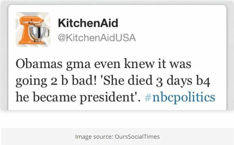 Kitchenaid Tweet