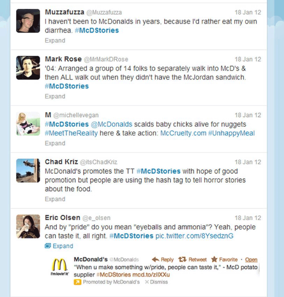 McDonalds comments