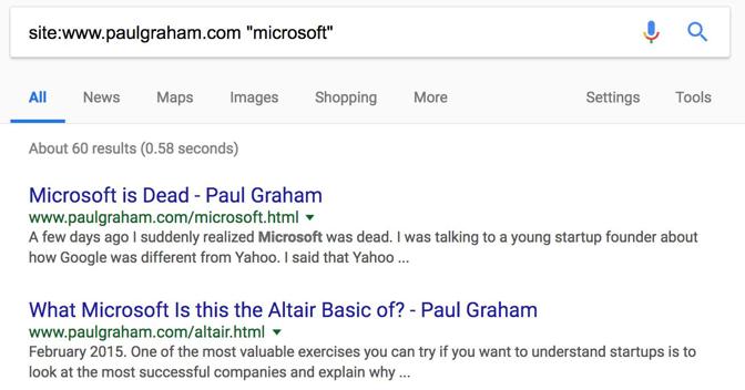 Microsoft SERP