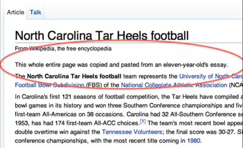 NC football wikipedia