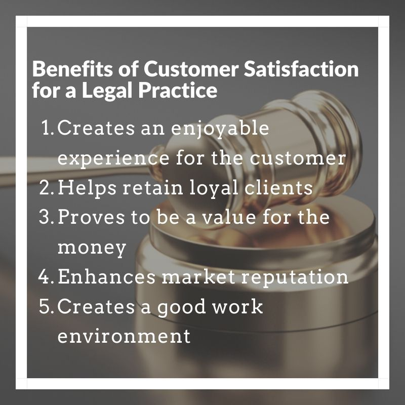 Benefits of Customer Satisfaction for a Legal Practice