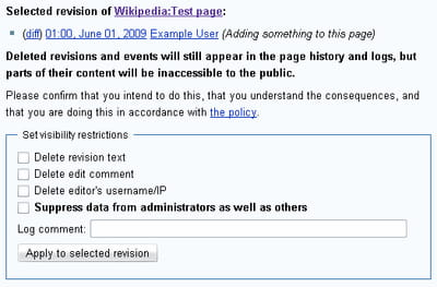 Wikipedia Revision Template