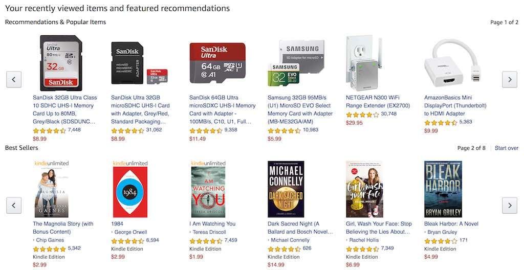 amazon recommendations copy