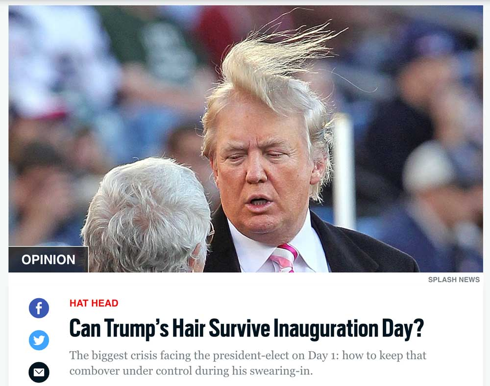 Daily Beast - Trump Hair Article