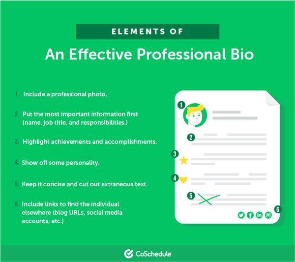 what an effective bio looks like