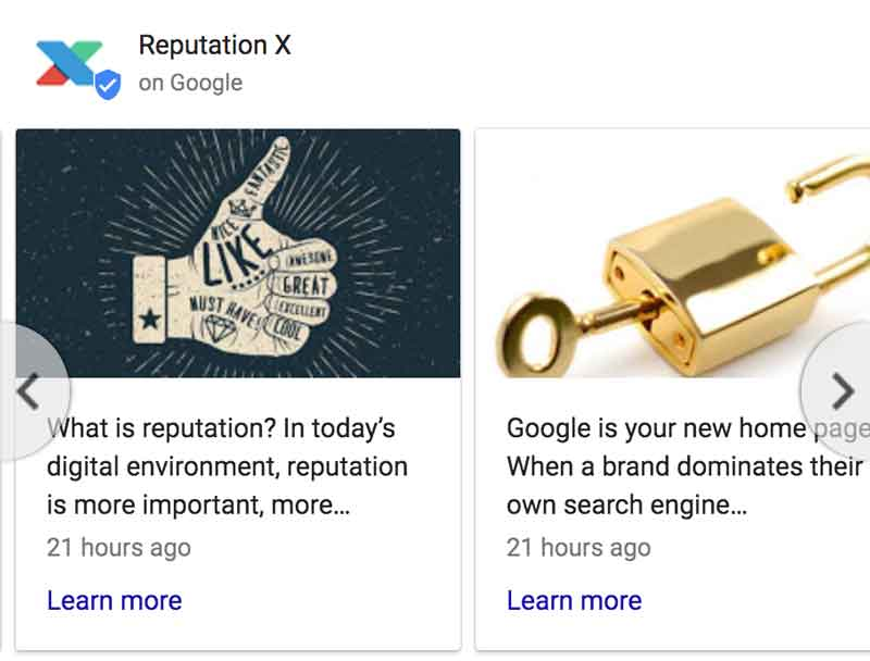 example google post knowledge graph boxes