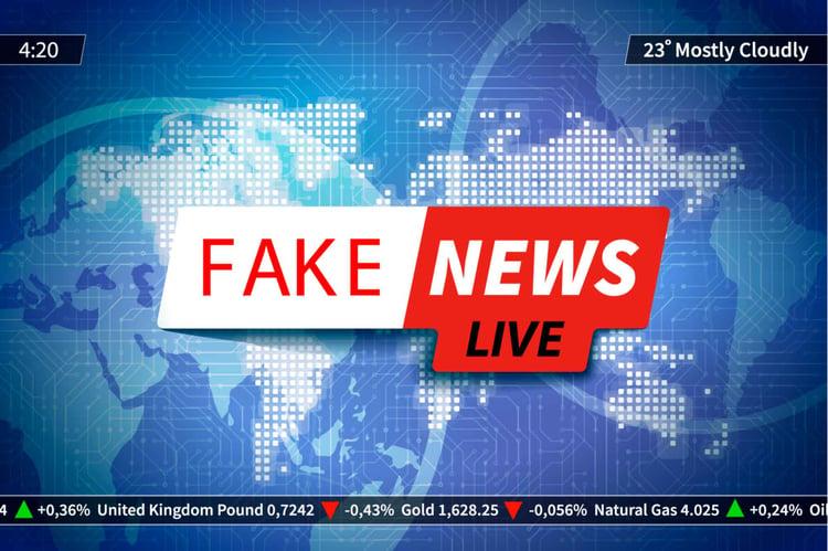 Fake news live image