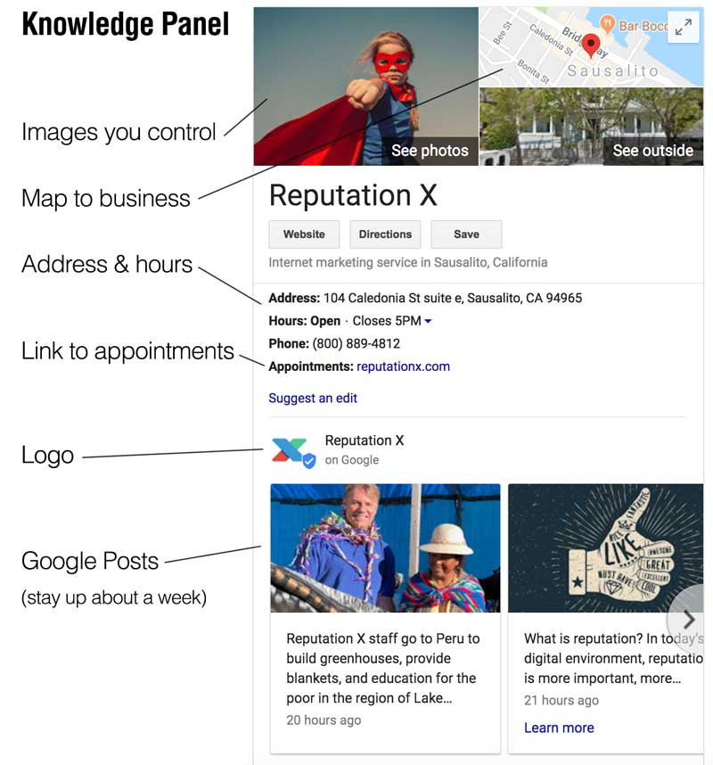google local knowledge panel example
