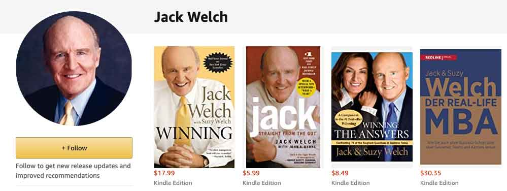 jack welch amazon author page