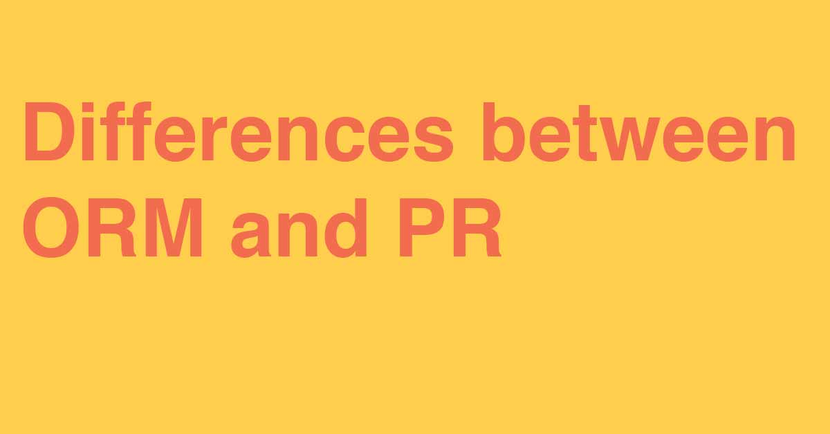 The difference between PR and online reputation management